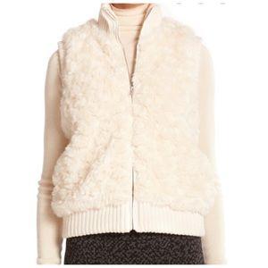 Joie Faux fur vest in natural